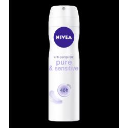 NIVEA Sensitive & Pure 48 h - dezodorant w aerozolu dla wrażliwej skóry, poj. 150 ml