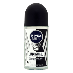 NIVEA Men Invisible Power 48 h - antyperspirant w kulce dla mężczyzn, Black & White, poj. 50 ml