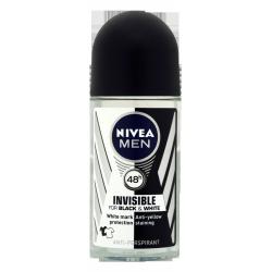 NIVEA Men Invisible Power 48 h - antyperspirant w kulce dla mężczyzn, Black & White, poj. 50 ml