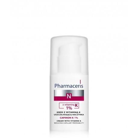 Pharmaceris N, krem z witaminą K uszczelniającą naczynka CAPINON K 1%, poj. 30 ml