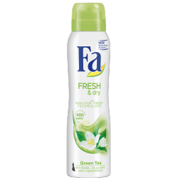 Fa Fresh & Dry - dezodorant w sprayu, Green Tea, poj. 150 ml