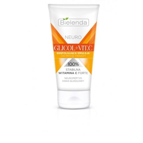 Bielenda NEURO GLICOL + VIT.C - eksfoliująca emulsja do mycia twarzy, poj. 150 ml