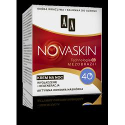 AA NOVASKIN - krem na noc 40+, wygładzenie + regeneracja, poj. 50 ml
