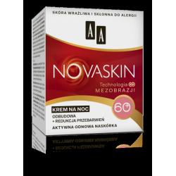 AA NOVASKIN - krem na noc 60+, odbudowa + redukcja przebarwień, poj. 50 ml