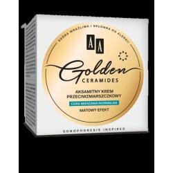 AA GOLDEN CERAMIDES - aksamitny krem przeciwzmarszczkowy na dzień, cera mieszana/normalna, poj. 50 ml