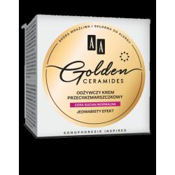 AA GOLDEN CERAMIDES - odżywczy krem przeciwzmarszczkowy na dzień, cera sucha/normalna, poj. 50 ml