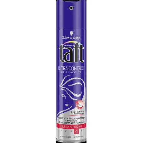 Taft Ultra Control - supermocny lakier do włosów (ultra strong), poj. 250 ml