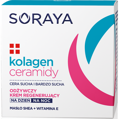 Soraya KOLAGEN+CERAMIDY - odżywczy krem regenerujący na dzień i na noc, poj. 50 ml