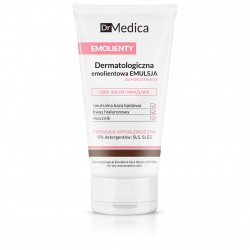 Dr Medica EMOLIENTY - dermatologiczna emolientowa emulsja do mycia twarzy, cera sucha i wrażliwa, poj. 150 ml