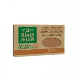 Biały Jeleń Apteka Alergika - dermatologiczne mydlo naturalne Ichtiol, poj. 125 g