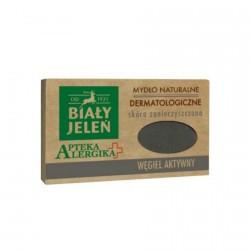 Biały Jeleń Apteka Alergika - dermatologiczne mydlo naturalne Węgiel Aktywny, poj. 125 g