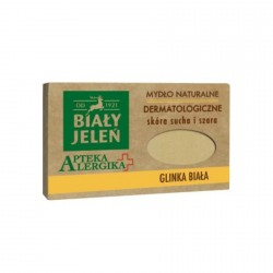 Biały Jeleń Apteka Alergika - dermatologiczne mydlo naturalne Glinka Biała, poj. 125 g