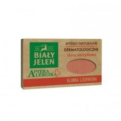 Biały Jeleń Apteka Alergika - dermatologiczne mydlo naturalne Glinka Czerwona, poj. 125 g