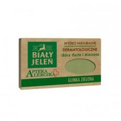 Biały Jeleń Apteka Alergika - dermatologiczne mydlo naturalne Glinka Zielona, poj. 125 g