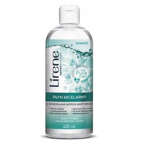 Lirene - micelarny z minerałami z Morza Martwego, każdy typ cery, poj. 400 ml