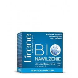 Lirene BIO Nawilżenie - ultra nawilżający krem z witaminą E na dzień i na noc - cera sucha i wrażliwa, poj. 50 ml