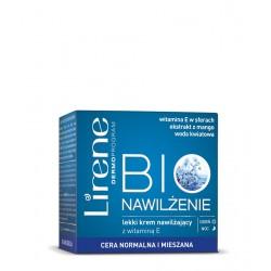 Lirene BIO Nawilżenie - lekki krem nawilżający z witaminą E na dzień i na noc - cera normalna i mieszana, poj. 50 ml