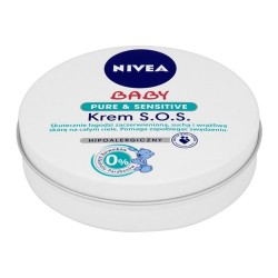 NIVEA Baby - hipoalergiczny krem S.O.S., Pure & Sensitive, emolient, poj. 150 ml