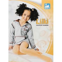 LILKI - rajstopy gładkie dziewczęce z cienkiej bawełny