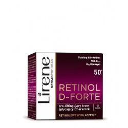 Lirene Retinol D-Forte - Pro-liftingujący krem na dzień 50+ spłycający zmarszczki, poj. 50 ml
