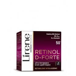 Lirene Retinol D-Forte - Ultra korygujący krem na noc 50+, ujędrniający, poj. 50 ml