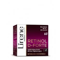 Lirene Retinol D-Forte - Ujędrniający krem na noc 60+, dermo-regenerujący, poj. 50 ml