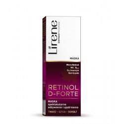 Lirene Retinol D-Forte - maska na noc z retinolem SPEKTAKULARNE ODŻYWIENIE I UJĘDRNIENIE na twarz, szyję i dekolt, poj. 50 ml