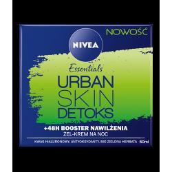 NIVEA Essentials Urban Skin - DETOX, krem na noc, +48H Booster nawilżenia, poj. 50 ml