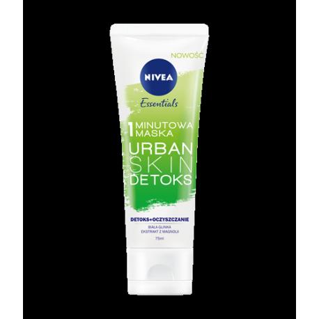 NIVEA Essentials Urban Skin - DETOKS, 1-minutowa maska oczyszczająca, poj. 75 ml