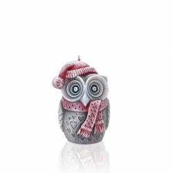 WINTER OWL - świeca, figurka 100