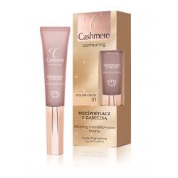 Cashmere Contouring - rozświetlacz z gąbeczką, golden beige 01, poj. 15 ml