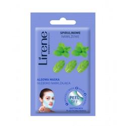 Lirene SPIRULINOWE NAWILŻENIE - algowa maska głęboko nawilżająca - peel off, poj. 10 g