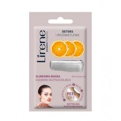 Lirene DETOKS I ROZŚWIETLENIE - glinkowa maska głęboko oczyszczająca - peel off, poj. 10 g