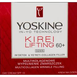 Yoskine Kirei Lifting - krem na dzień 60+, multikolagenowe wypełnienie zmarszczek, poj. 50 ml