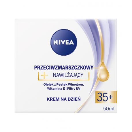 NIVEA przeciwzmarszczkowy + nawilżający, krem na dzień, 35+, poj. 50 ml