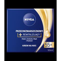 NIVEA przeciwzmarszczkowy + rewitalizujący. krem na noc, 55+, poj. 50 ml