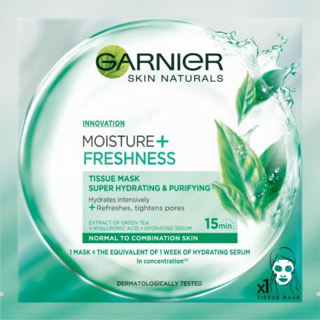 Garnier Moisture + Freshness - maska kompres super nawilżenie i oczyszczenie, 32 g