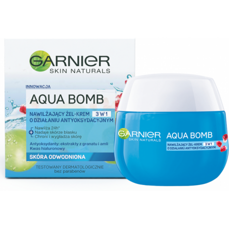 Garnier Aqua Bomb - nawilżający żel-krem o działaniu antyoksydacyjnym, 3w1, na dzień, skóra odwodniona, poj. 50 ml