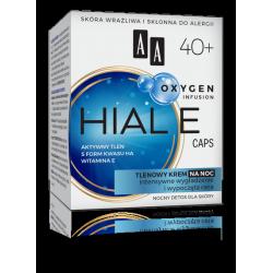 AA OXYGEN INFUSION - HIAL E CAPS, tlenowy krem na noc 40+, poj. 50 ml
