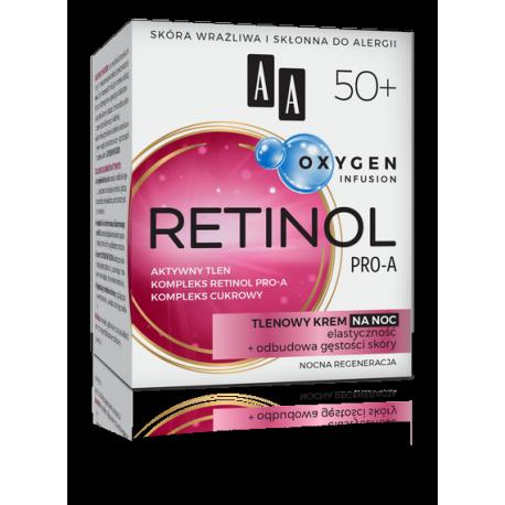 AA OXYGEN INFUSION - RETINOL PRO-A, tlenowy krem na noc 50+, poj. 50 ml