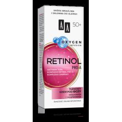 AA OXYGEN INFUSION - RETINOL PRO-A, tlenowy krem pod oczy 50+, poj. 15 ml