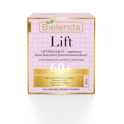Bielenda LIFT - lLiftingująco–naprawczy krem – koncentrat przeciwzmarszczkowy 60+ NOC, poj. 50 ml