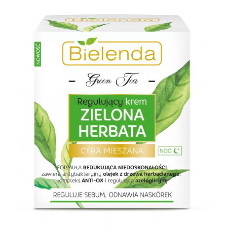 Bielenda ZIELONA HERBATA - regulujący krem na noc, poj. 50 ml