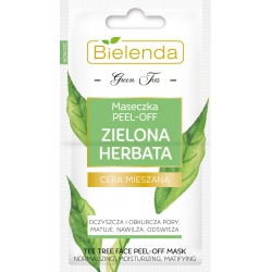 Bielenda ZIELONA HERBATA - maseczka PEEL-OFF, poj. 2 x 5 g