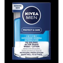 NIVEA Men Protect & Care - 2w1 woda po goleniu dla mężczyzn, poj. 100 ml