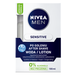 NIVEA Men Sensitive - łagodząca woda po goleniu, poj. 100 ml