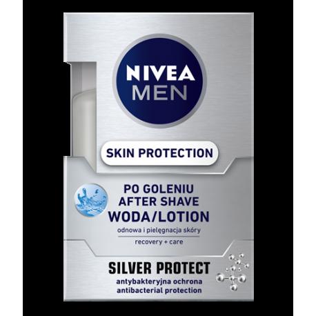Nivea Men Silver Protect - Skin Protection woda po goleniu, poj. 100 ml