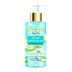 Bielenda HYDRA CARE - nawilżający olejek do mycia twarzy KOKOS & ALOES, poj. 140 ml