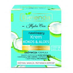 Bielenda HYDRA CARE - nawilżający krem do twarzy KOKOS & ALOES – cera sucha i odwodniona dzień/ noc, poj. 50 ml