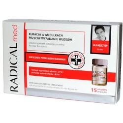 Radical Med - kuracja przeciw wypadaniu włosów dla mężczyzn, poj. 15 ampułek x 5 ml (OUTLET)